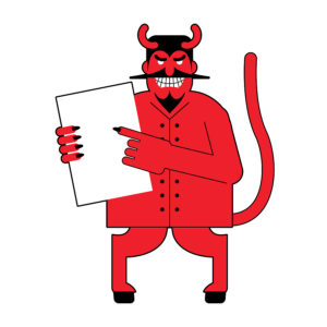 illustration of devil to match the title
