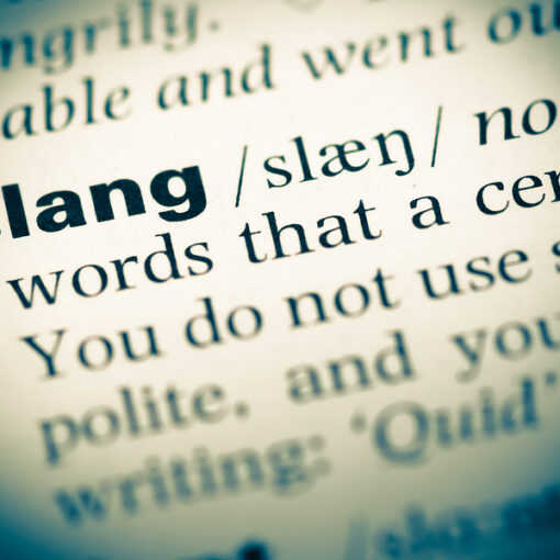 photo of dictionary definition of word slang