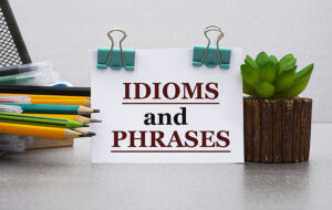 """sign with words """"idioms and phrases"""""""